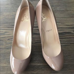 Brand new Christian louboutin leather pumps.